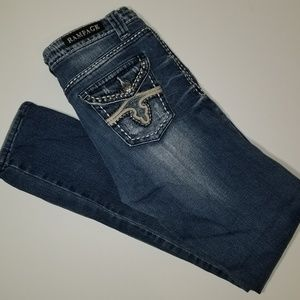 Rampage Jeans w/Faux Black Diamonds & Studs 9